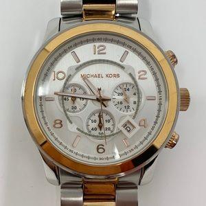 Michael Kors ChronographRunway Silver & Rose Watch